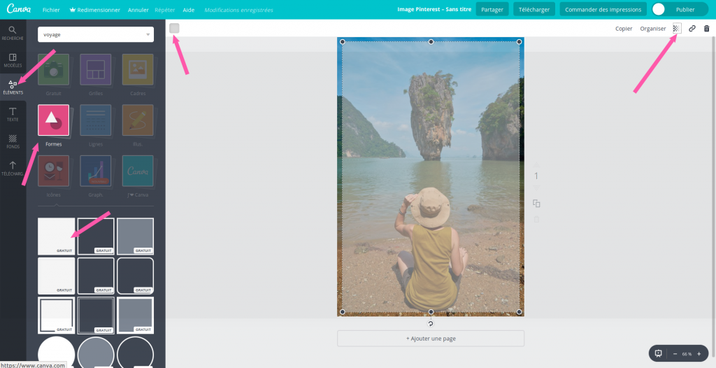 rendre image Canva transparente